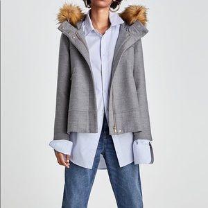 Zara Fur Hooded Coat